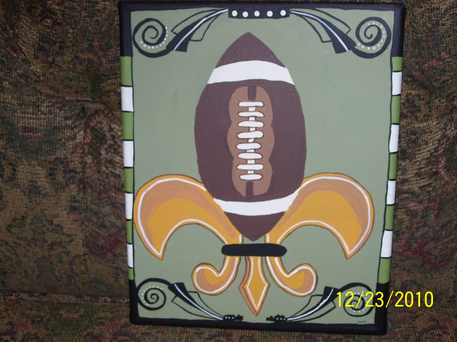 How To Paint A Fleur De Lis This And That By Patty Fleur De Lis Paintings Christmas Gifts