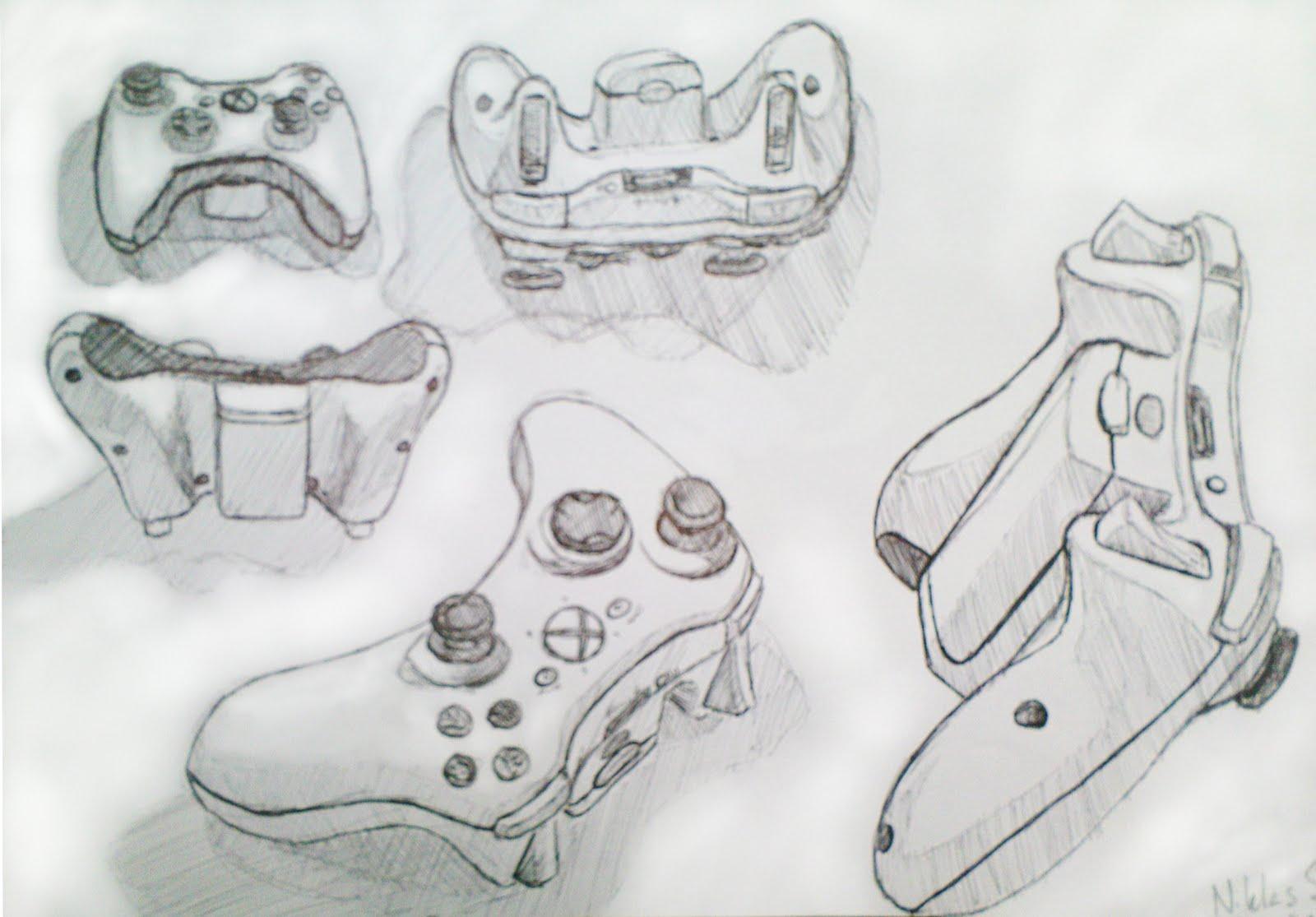 xbox 360 controller sketch - photo #23