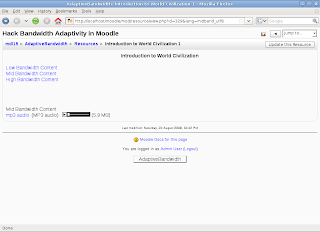 Open Educational Tools: Hack Bandwidth Adaptivity for Moodle using