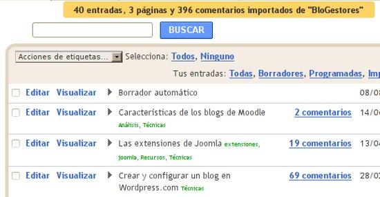 Cómo hacer para pasar o Convertir un blog de Wordpress.com a Blogger 6
