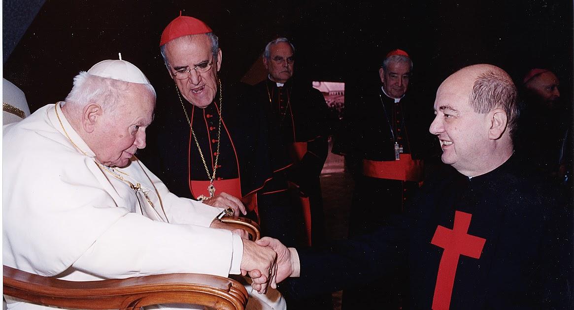 Marchirolo GIOVANNI PAOLO II  P EUGENIO SAPORI Novembre 2004