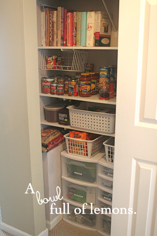 A Coat Closet Turned Pantry A Bowl Full Of Lemons