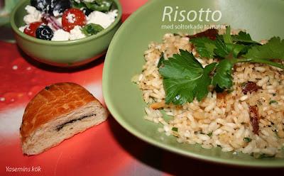 Krämig risotto med soltorkade tomater