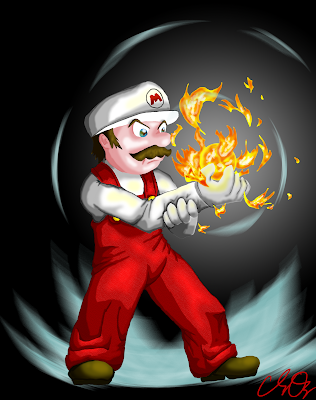 fireball mario coloring pages - photo#32