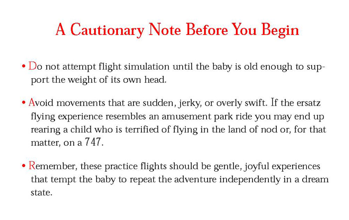 Stuff You Can't Have: Teach Your Baby to Fly
