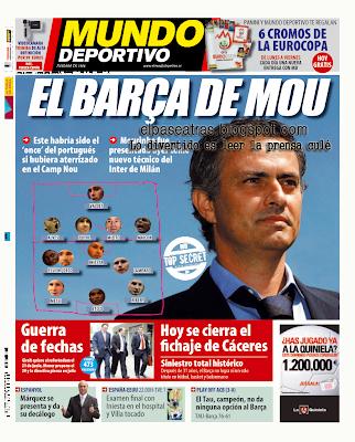 portada Mundo Deportivo El Barça de Mou