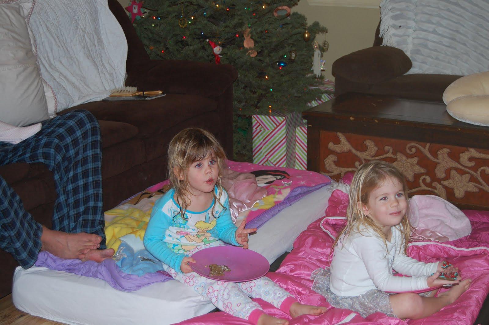 Three Little Women Slumber Party Under The Christmas Tree
