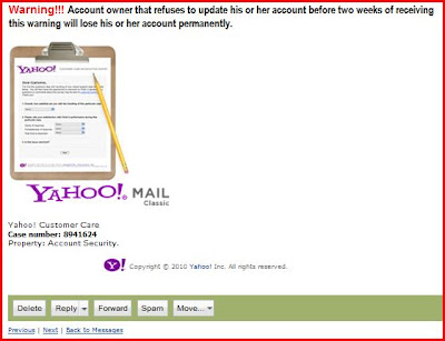 Yahoo Mail: Your Account Has Been Suspended! ~ Behind Crossroads