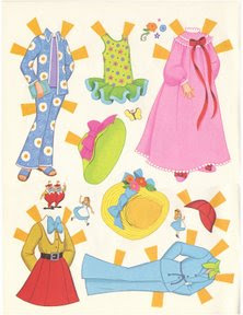 Alice in Wonderland Paper Doll