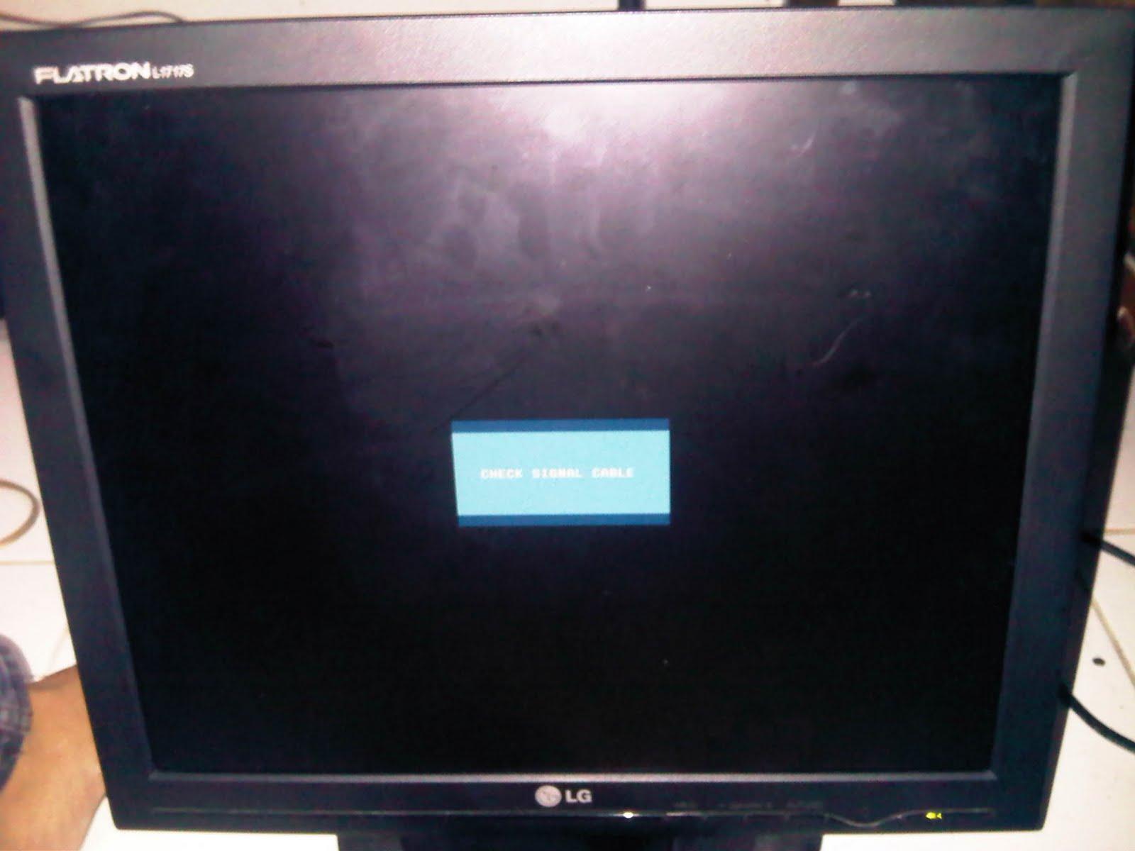 LCD normal kembali