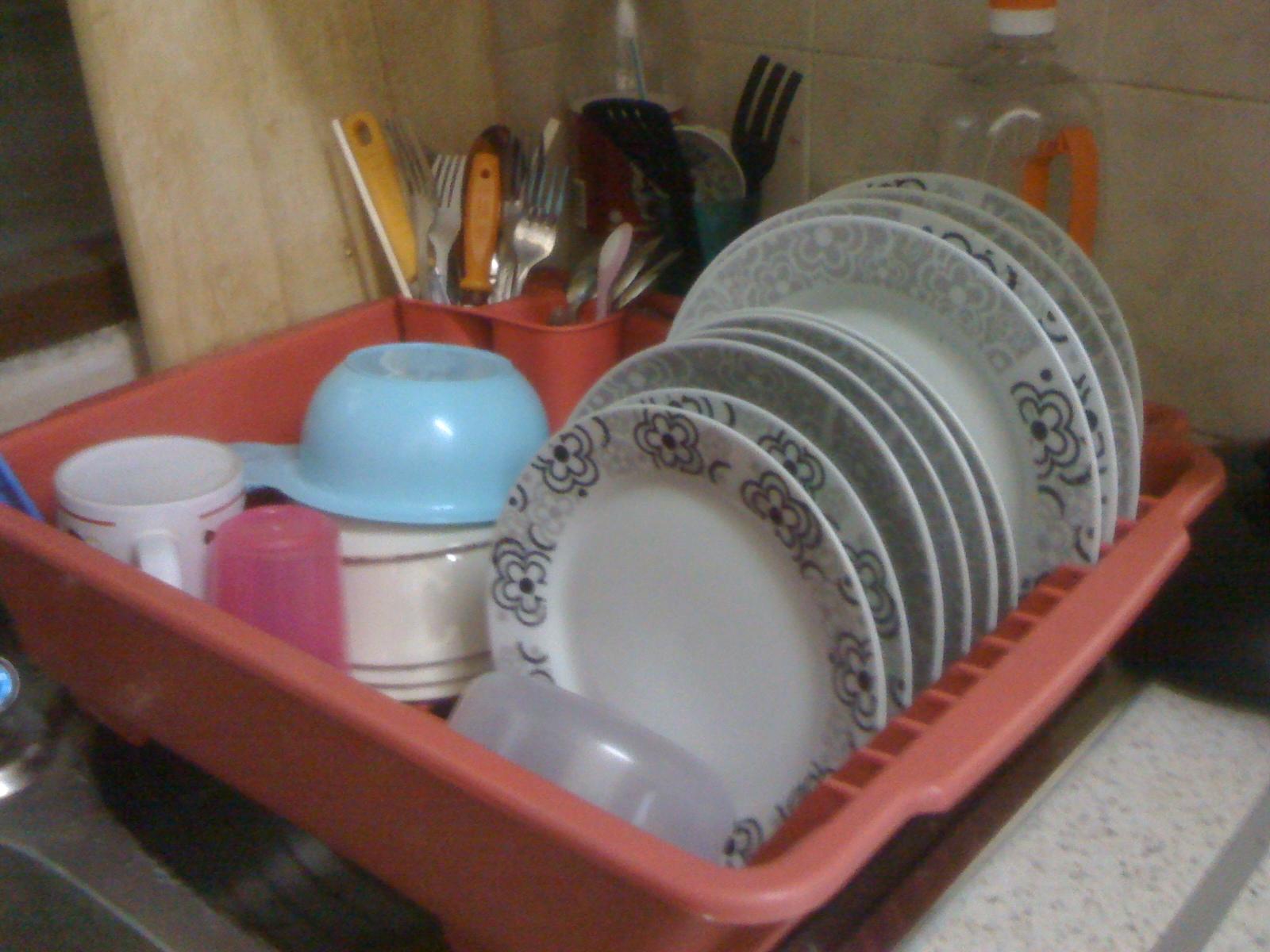 Dapur Rumah Saya Kecik Jer Jd Rasanya X Susah Nak Organise Beli Satu Bakul Utk Letak Pinggan Basah Yg Sering Digunakan Harian