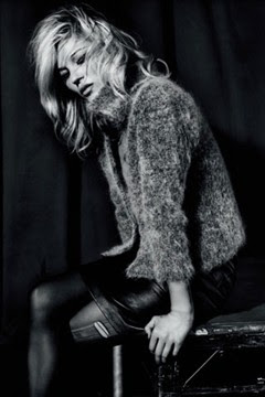 Kate Moss in faux fur jacket | UK style blog