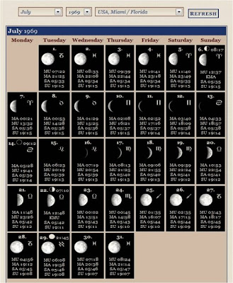 Calendario Del Ano 1969.Grandes Montanas Julio 1969 Calendario Lunar