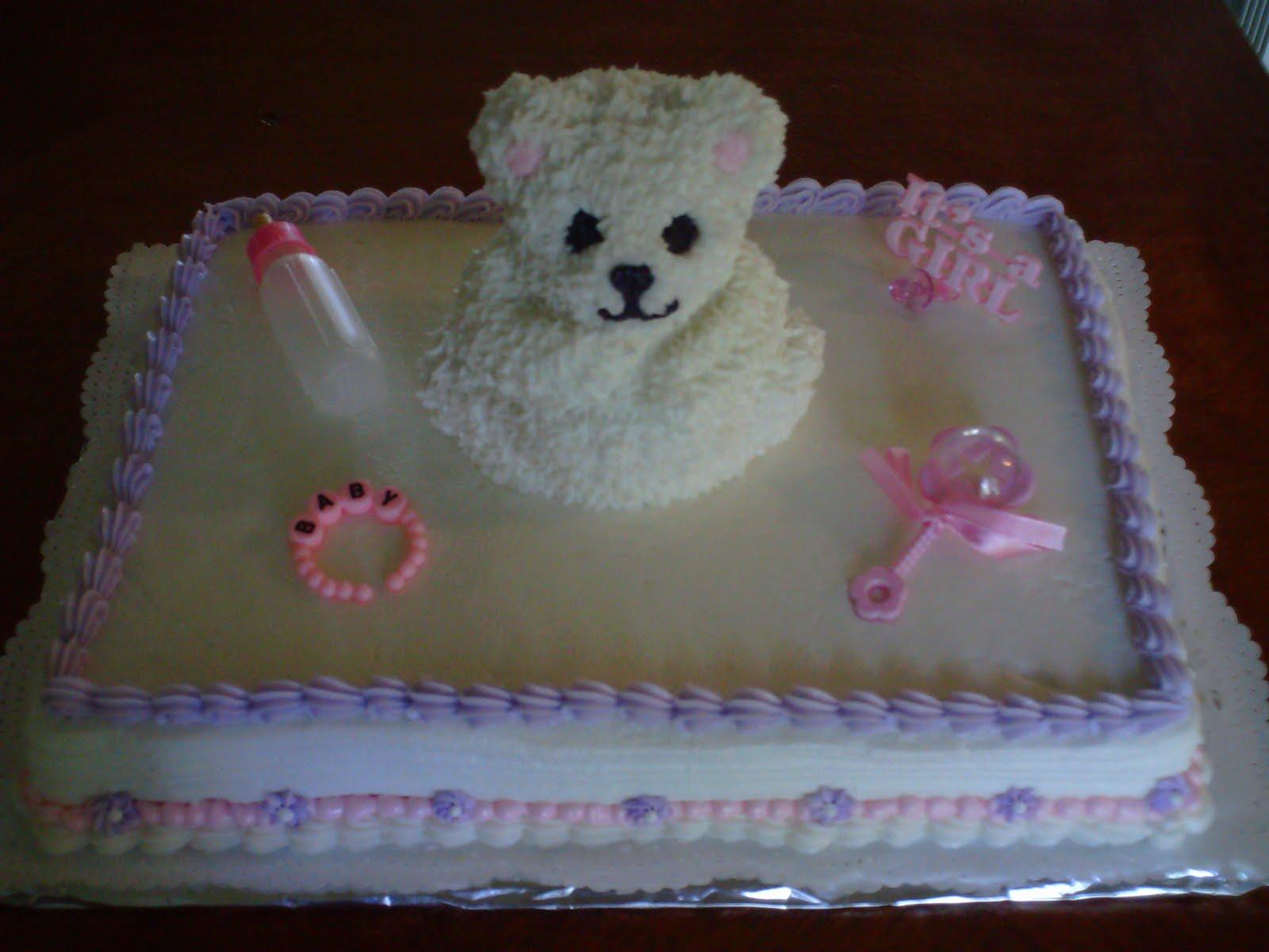 Art N Cake Teddy Bear Baby Shower Cake