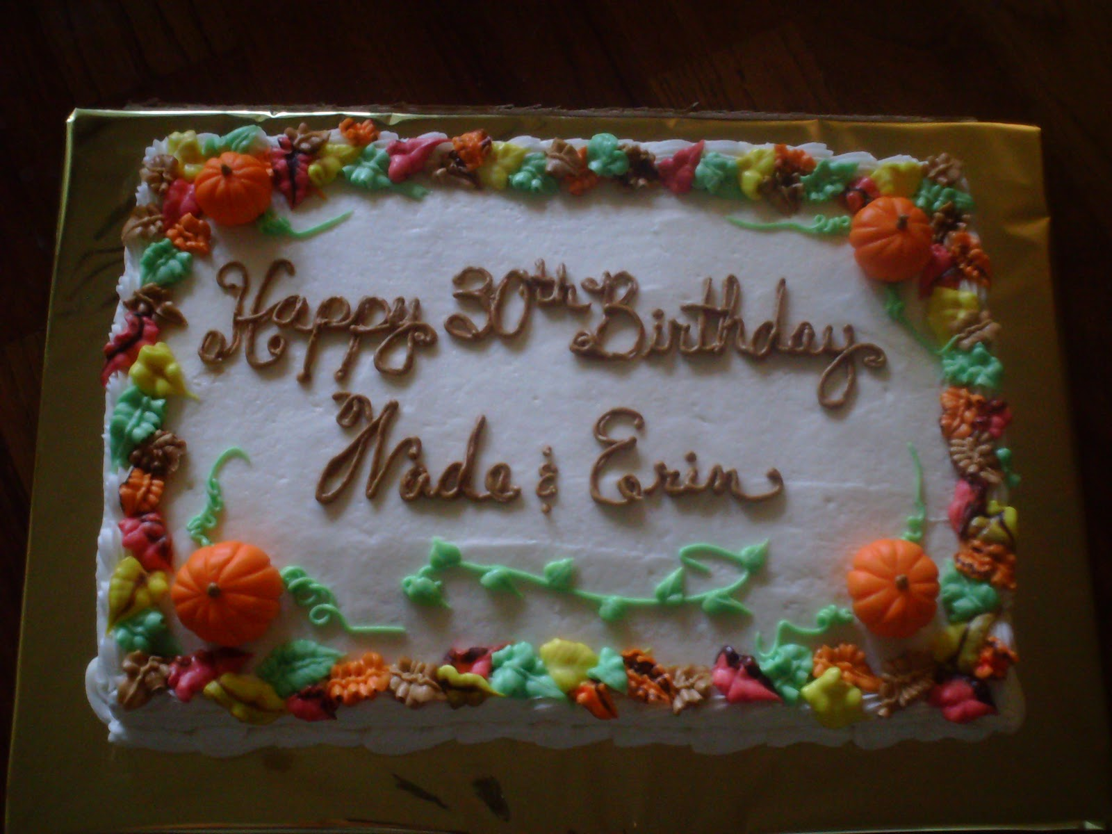 Art N Cake Autumn Birthday
