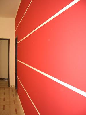 Pittura in pareti a righe orizzontali for Pareti moderne