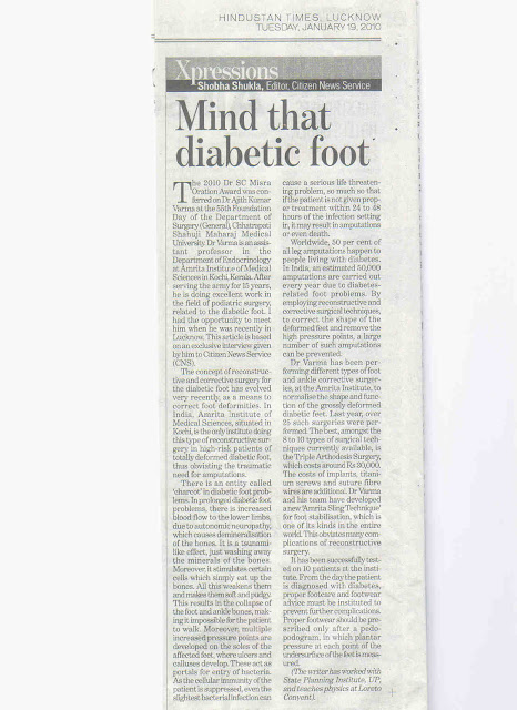CNS: The Hindustan Times - Mind That Diabetic Foot