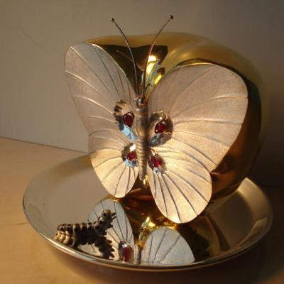 Butterfly Apple sculpture