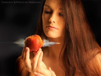 Girl, Apple and Bullet n.1 by Roberto Roseano