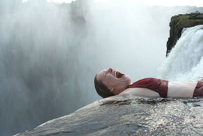 Angela Stugren at Victoria Falls