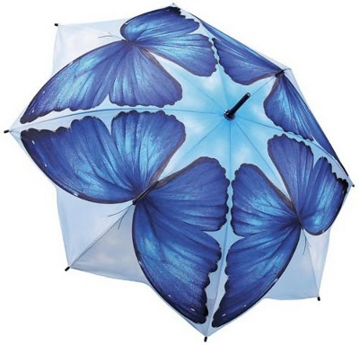 Blue Morpho Butterfly Umbrella