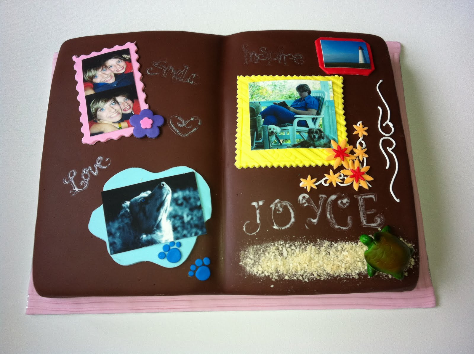 Jocelyn S Wedding Cakes And More Scrapbook Cake