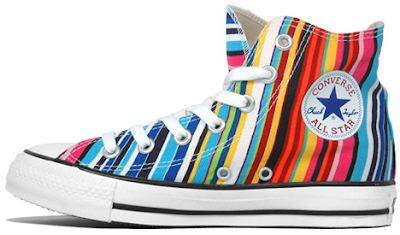 1a12254c667 Converse Tennis Shoes on Hooray For Funky Converse Sneakers I Ve Been  Walking In These Rainbowy