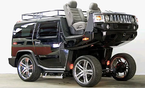 Hummer H3 Two Horse Funny Lol