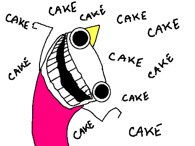 Hyperbole And A Half Birthday Cake
