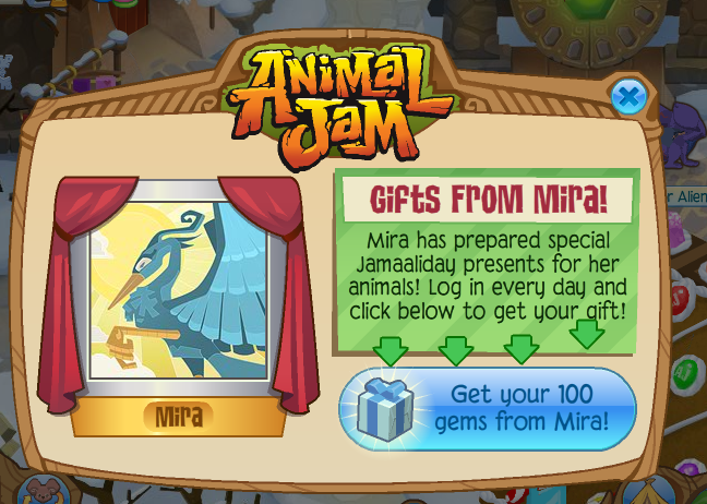 Animal Jam Community Blog: Get 100 FREE Gems from Mira EVERY