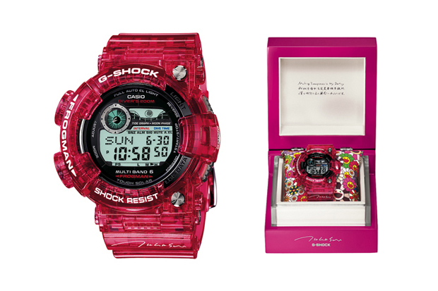 19201a786b0 Takashi Murakami helped to celebrate the 40th anniversary of Japanese radio  station Tokyo FM with this special G-SHOCK Frogman design.