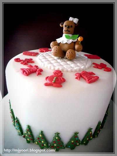 Mj S Yoori Sugarcraft Christmas Cake
