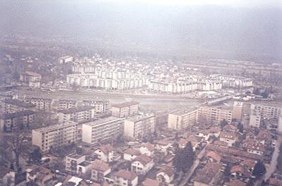 Imagini Sarajevo: din avion