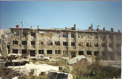 Imagini Mostar: urme ale razboiului croato-bosniac