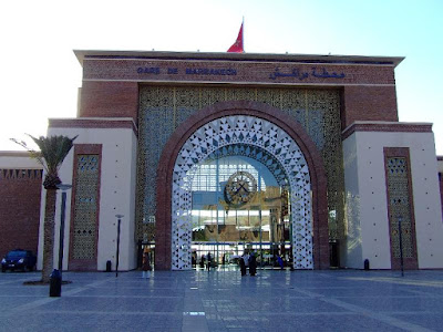 Obiective turistice Maroc: gara Marrakech