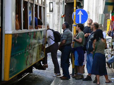 Imagini Portugalia: statie tramvai Lisabona