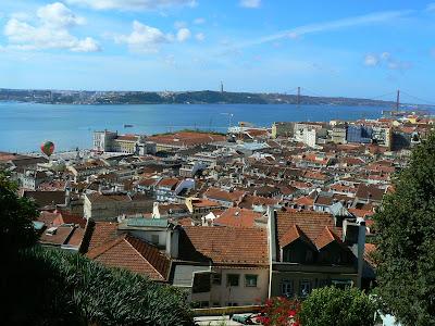 Imagini Portugalia: panorama Lisabona fluviu Tejo