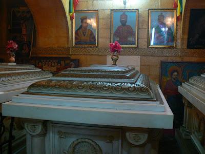 Imagini Etiopia: Beta Maryam Addis Ababa, mormantul lui Menelik II