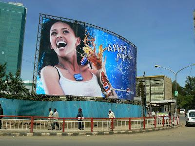 Imagini Etiopia: reclama la Pepsi