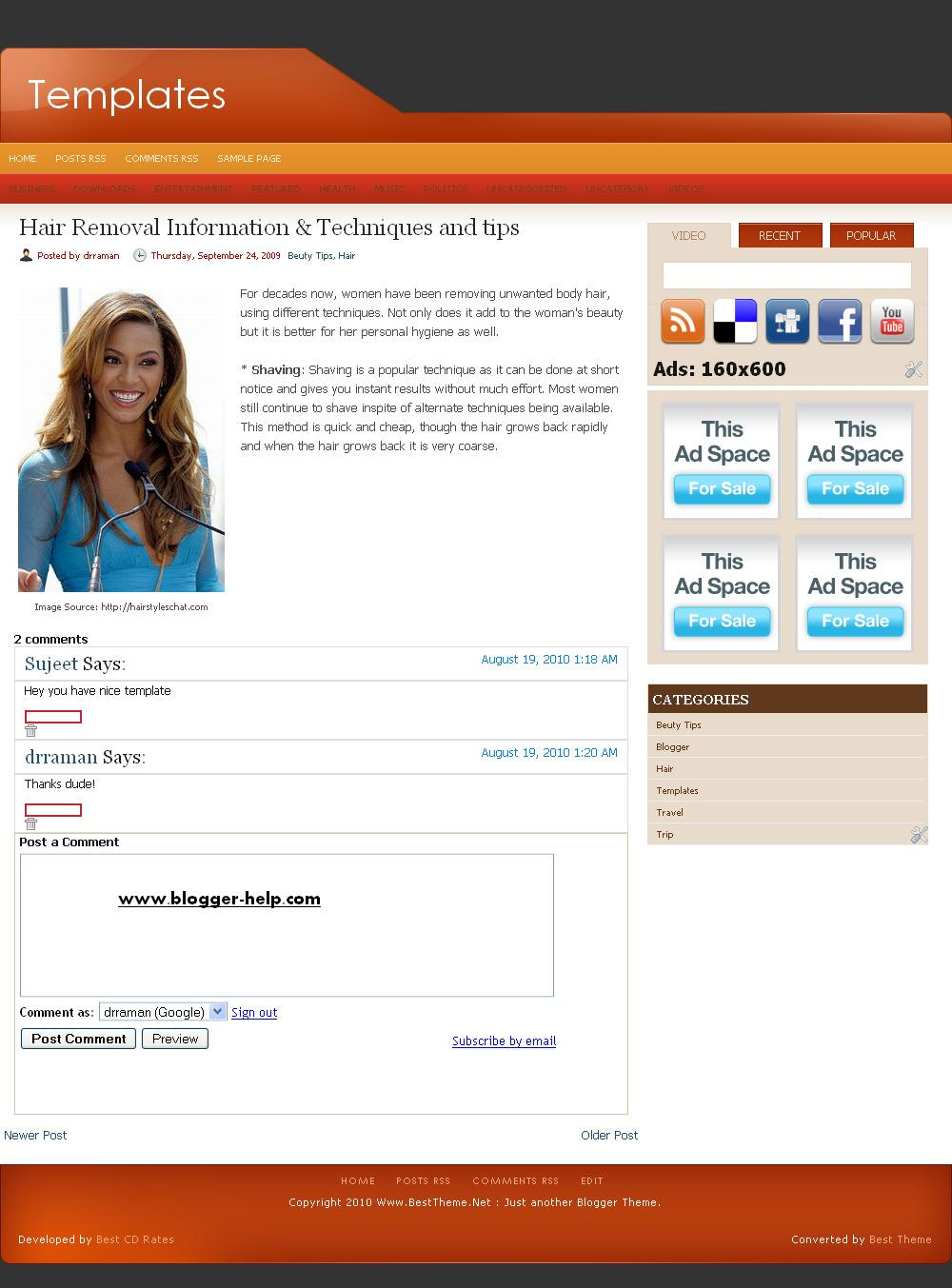 blogger post template code - photo gallery template single post photogalaree
