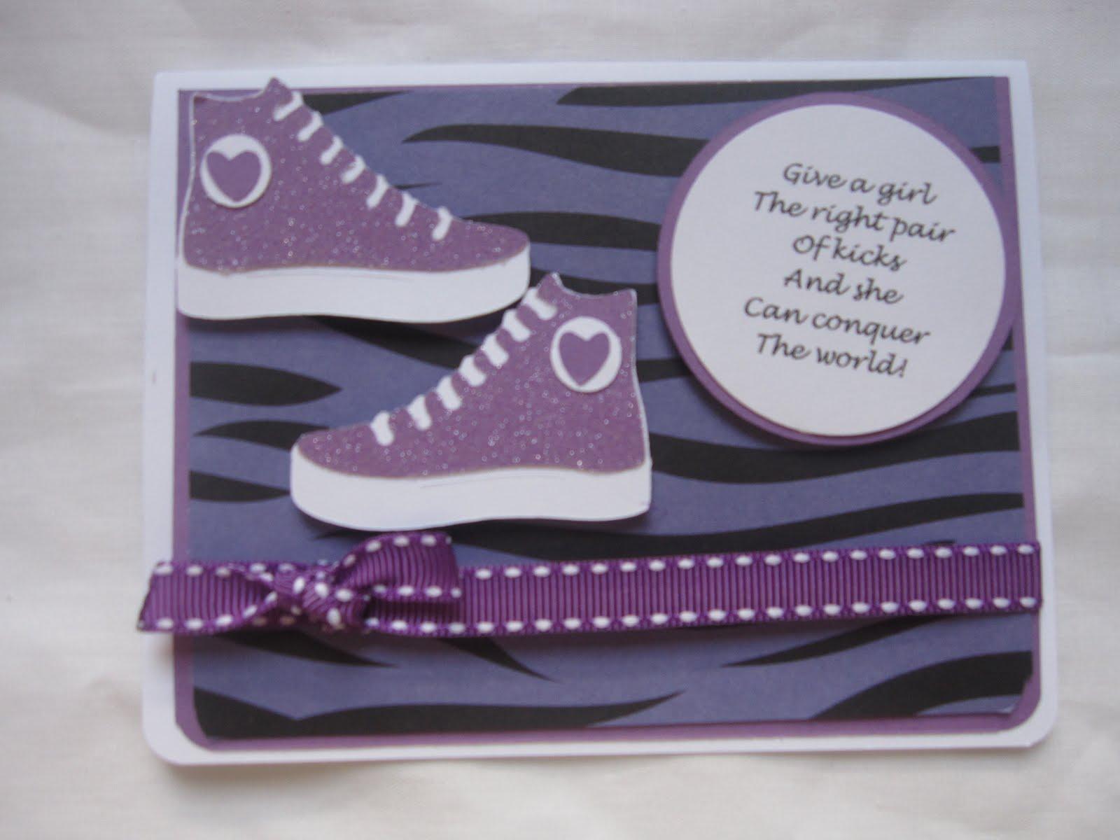Denim Glitter Creations Birthday Card For My B F F