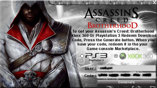 Download Assassins Creed Brotherhood keygen for free.