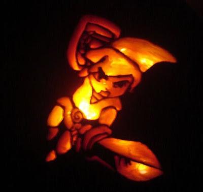 Link From Zelda Pumpkin