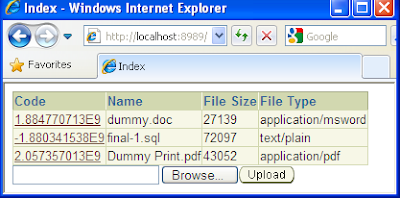 shaghab: File upload and download in Toplink, ADF Faces, Oracle 11g