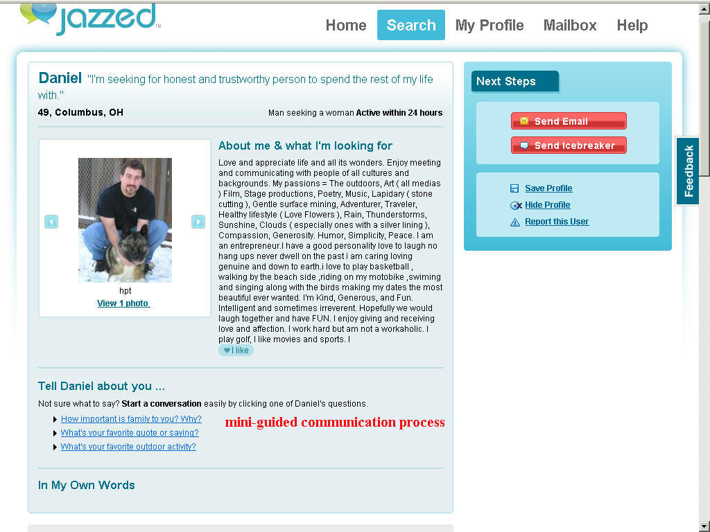Online dating site for singles - free to search on jazzed