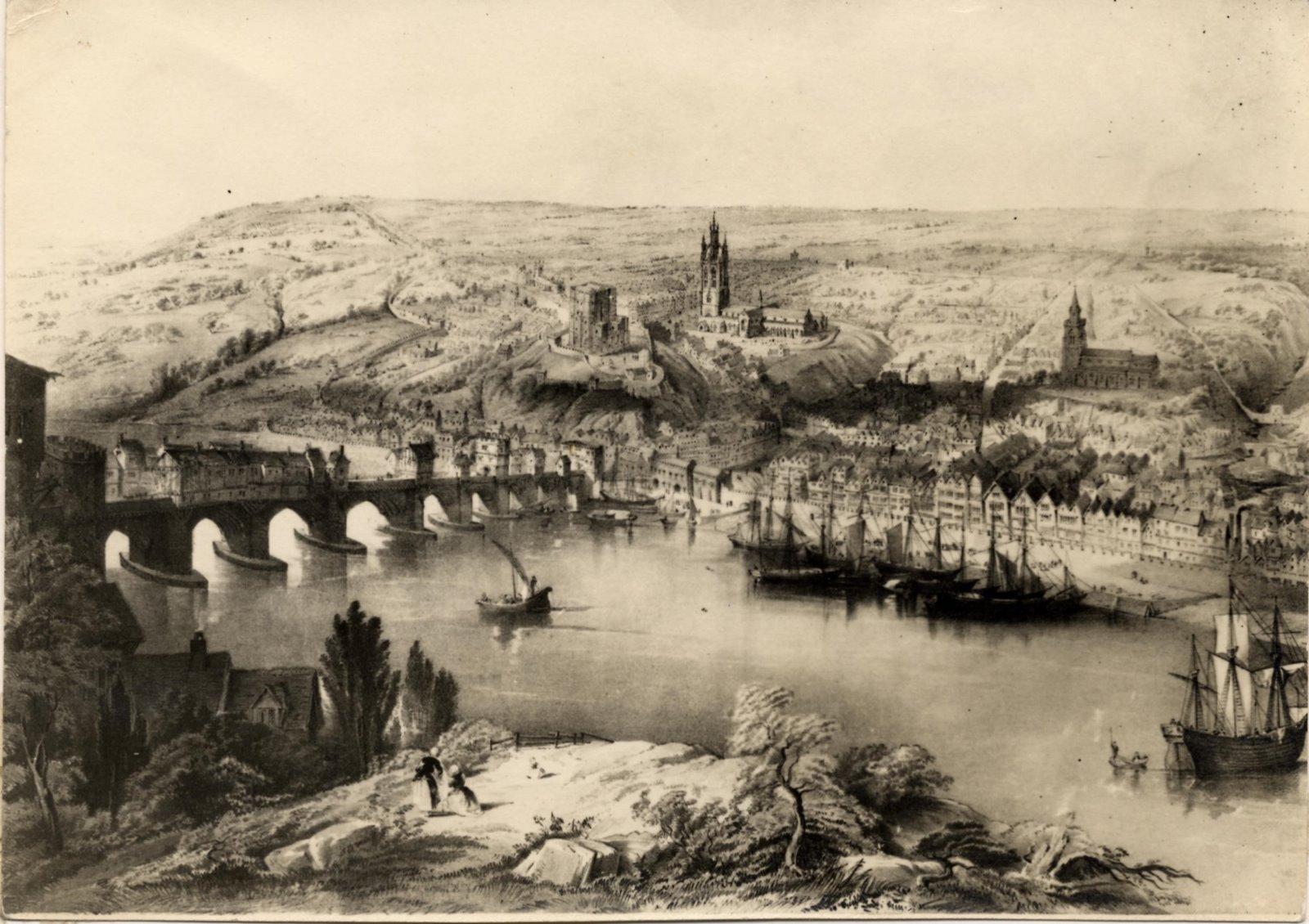 Tyne Bridges At Gateshead Gateshead History Felling History Low