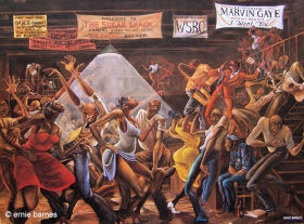Sugar Shack by Ernie Barnes