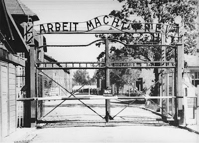 Gate leading to Auschwitz