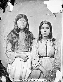 Photo of Choctaw girls
