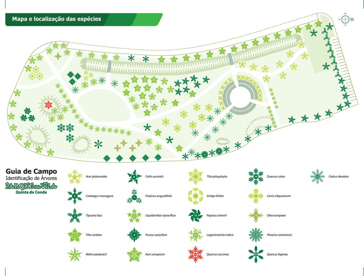 quinta do conde mapa Animenatura: Guia de Campo   Identificação das Árvores do Parque  quinta do conde mapa